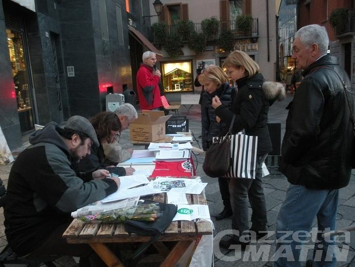 Sinistra in piazza per i diritti dei lavoratori e contro Monti