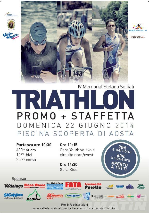 Triathlon: domenica ad Aosta il Memorial Stefano Soffiati