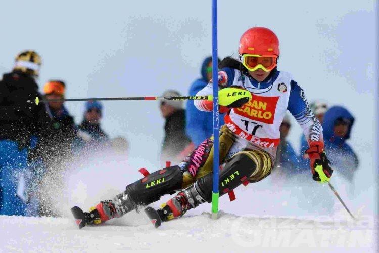 Sci alpino: niente medaglie per la Valle nello slalom Allievi