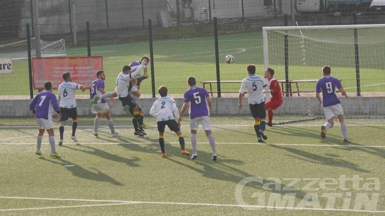Calcio: vince l'Aygre, pari pazzo del P.D.H.A., ko lo Charva
