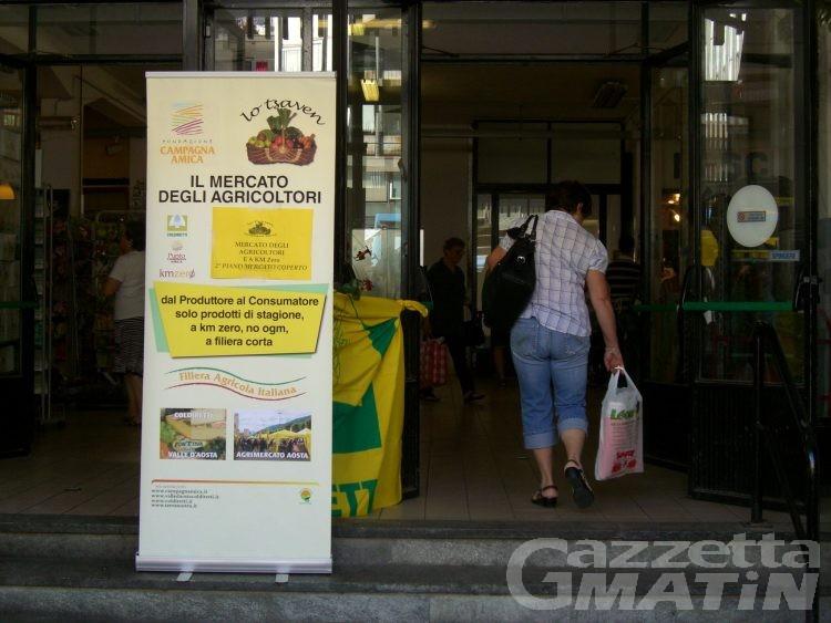 Campagna amica, i prodotti ortofrutticoli a Km zero il martedì al mercato coperto di Aosta