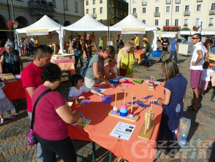 Aosta, tra una fattoria en plein air e il gioco intelligente per gli adulti un sabato in due piazze delal città