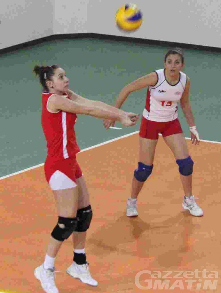 Volley: due punti d'oro per la Cogne A.S.