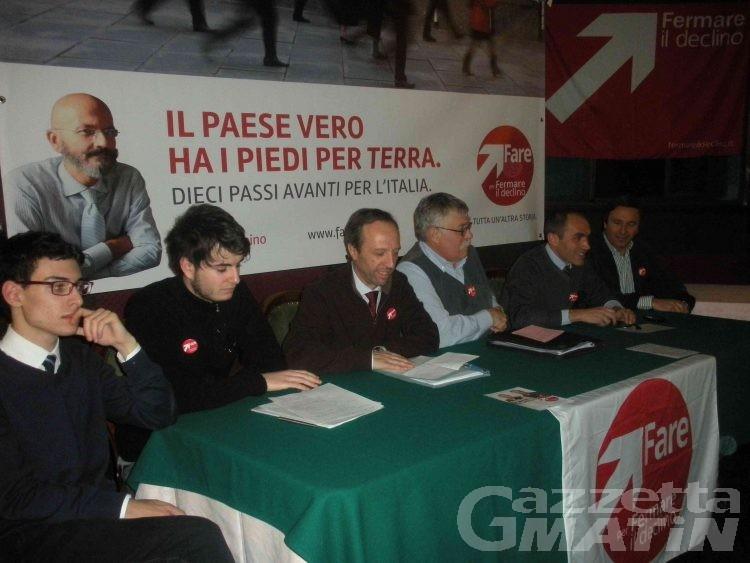 Buillet-Martial, candidati di Fare di Giannino, l'economia è il piatto forte