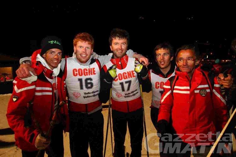 Maestri di sci: Pellissier e Chuc campioni regionali nella notturna di Cogne