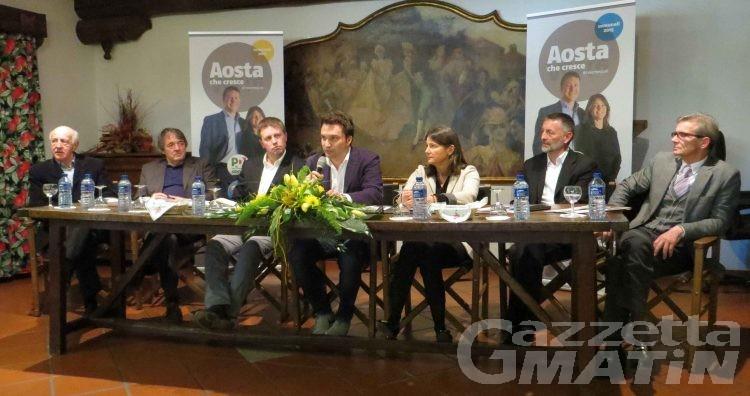 Comunali Aosta: «Siamo l'unica coalizione, non facciamo giochetti come gli altri»