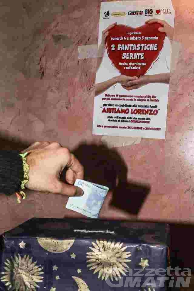 «Aiutiamo Lorenzo»; prosegue la gara di solidarietà per il bambino di St-Nicolas