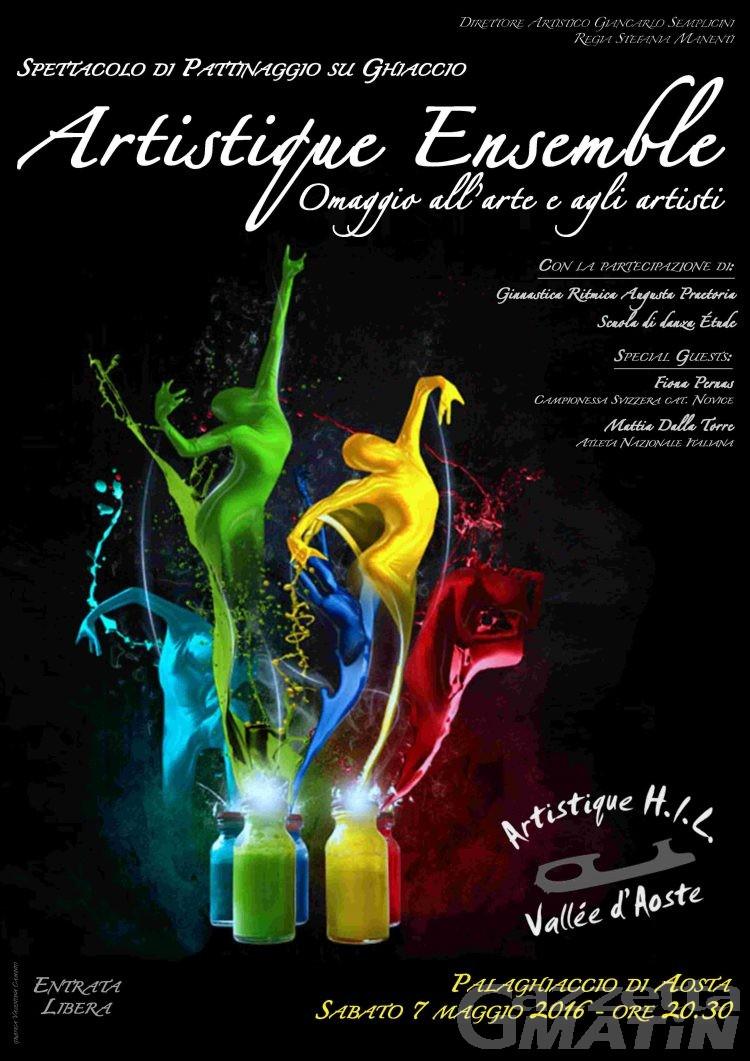 Pattinaggio: sabato ad Aosta lo spettacolo dell'Artistique