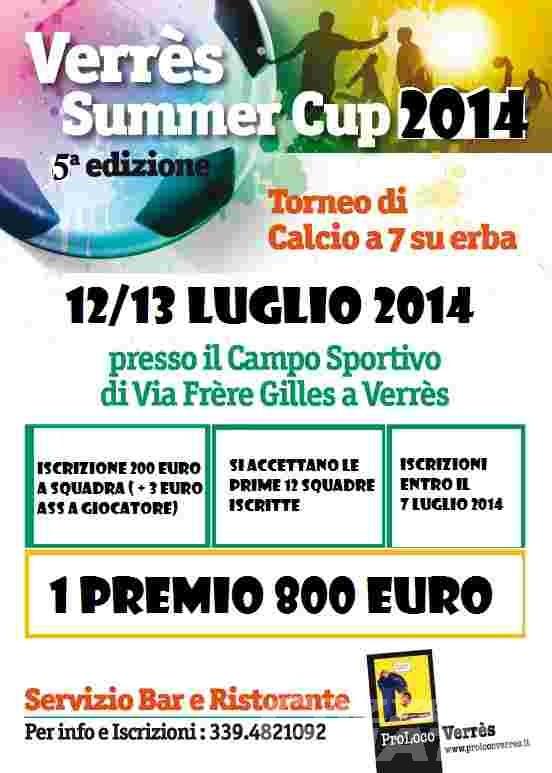Calcio a 7: a Verrès torna la Summer Cup