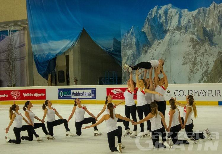 A Courmayeur il via ai Mondiali di pattinaggio sincronizzato