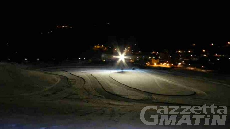 Sci di fondo, a Saint-Nicolas si scia in notturna