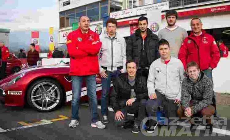 Sei studenti a Parma per il corso di guida sicura