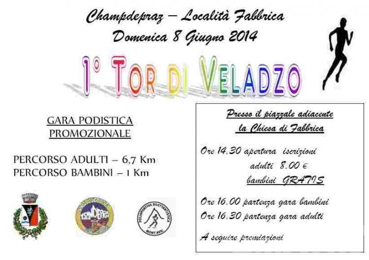 Podismo: l'8 giugno a Champdepraz c'è il Tor di Veladzo
