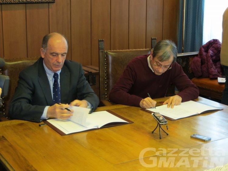 Aosta: firmato accordo con la Regione per il parcheggio pluripiano