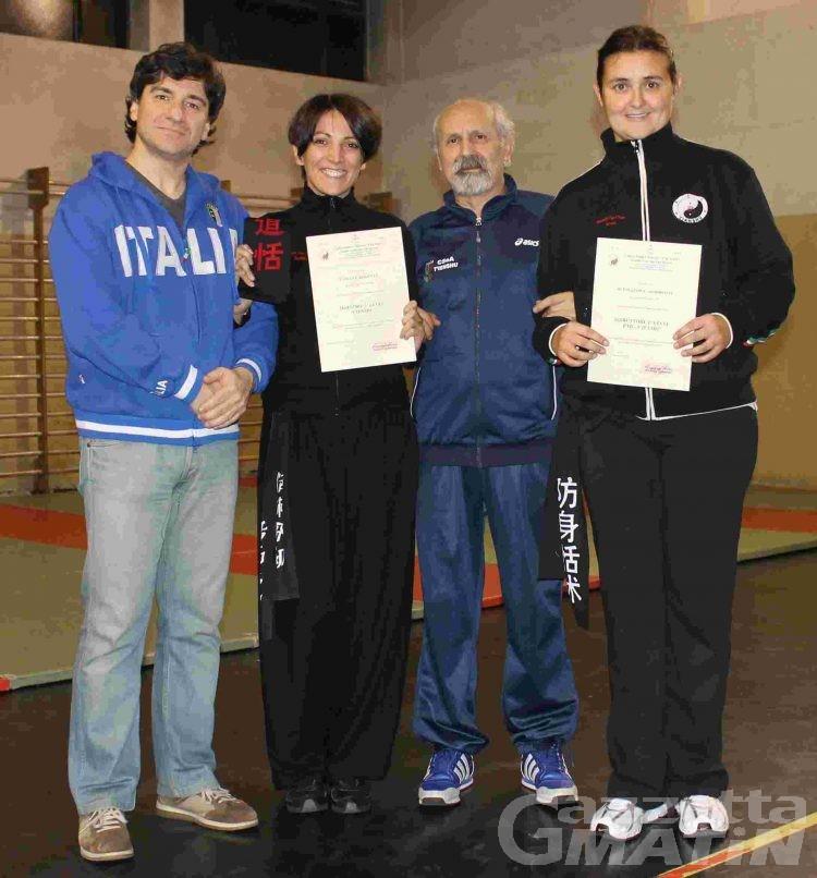 Arti marziali: Tatiana Roveyaz e Alessandra Armirotti passano di livello