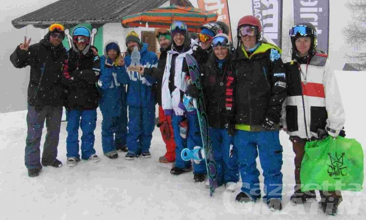 Snowboard: i titoli valdostani di slope style