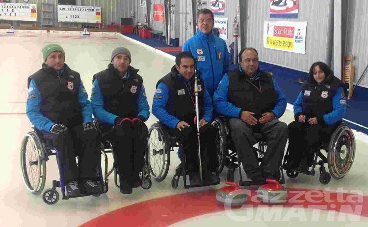 Curling in carrozzina: la Disval batte i campioni italiani