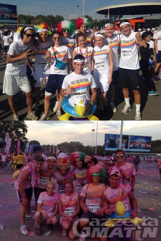 10 giovani valdostani alla Color Run a San Siro, la corsa più allegra del mondo
