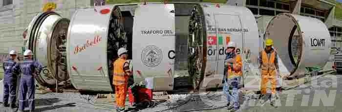 Galleria di sicurezza del Traforo del GS Bernardo: lavori sospesi