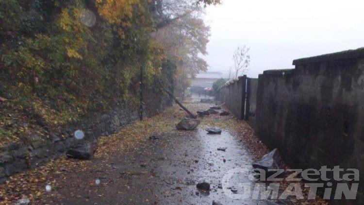 Maltempo, riaperte le strade a Montjovet, Champorcher e Brusson