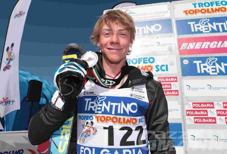 Sci alpino: Michael Tedde secondo nello slalom del Topolino internazionale