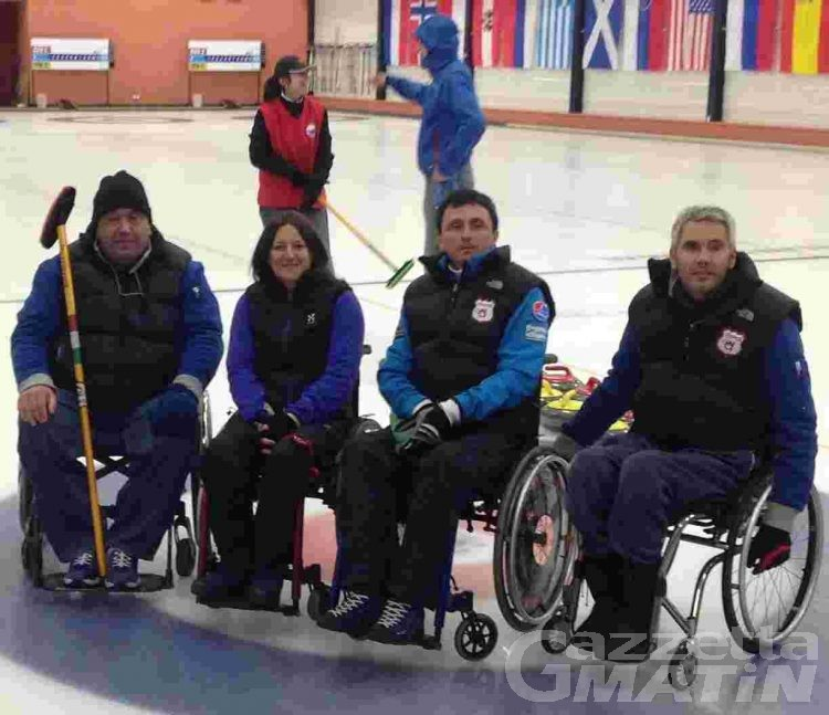 Wheelchair curling: la Disval terza a Praga