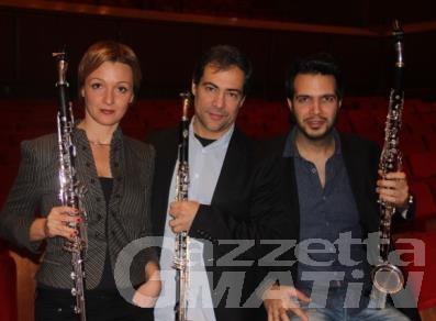 Saison culturelle, domani allo Splendor il Trio di Clarinetti