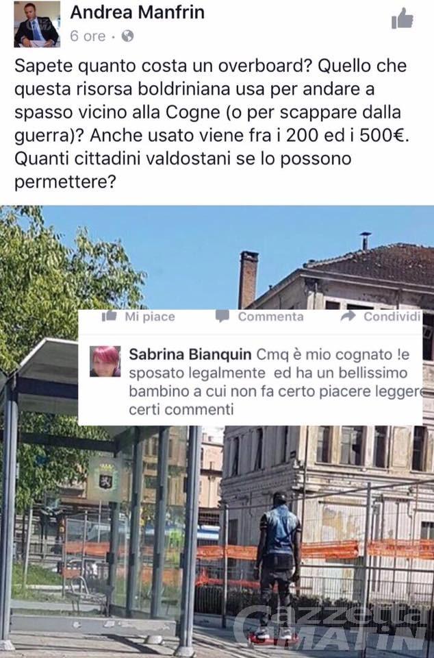 Aosta: post razzista sui social, consigliere leghista nella bufera