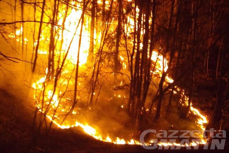 Due incendi nella valle del Gran San Bernardo