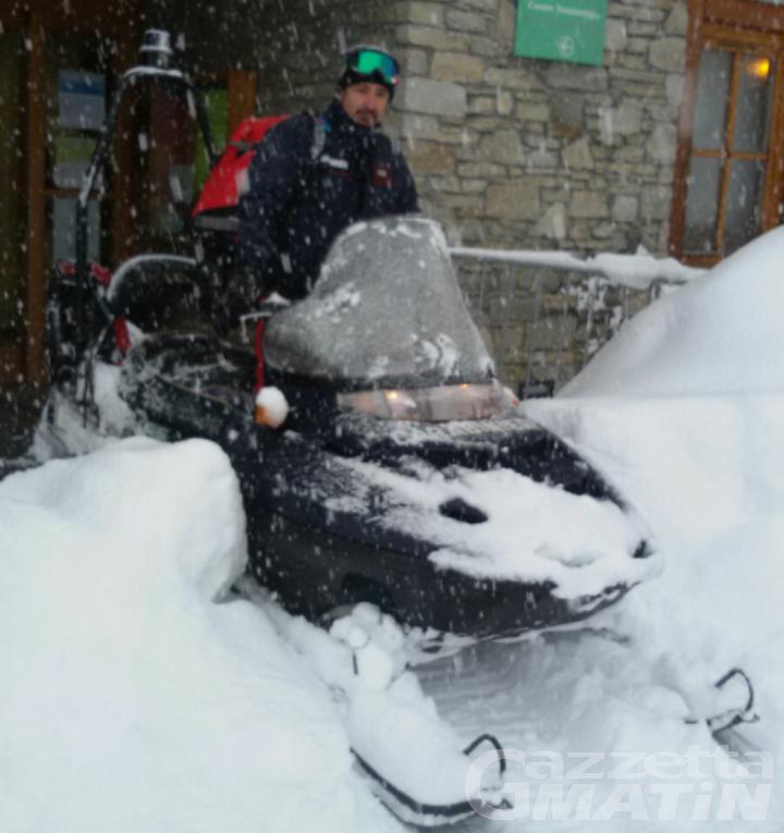 Cervinia: servizio in motoslitta per le emergenze