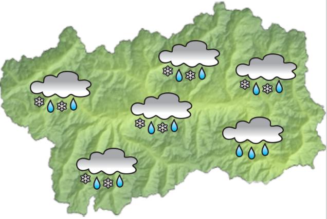 Meteo VdA: precipitazioni in aumento, forte rischio valanghe