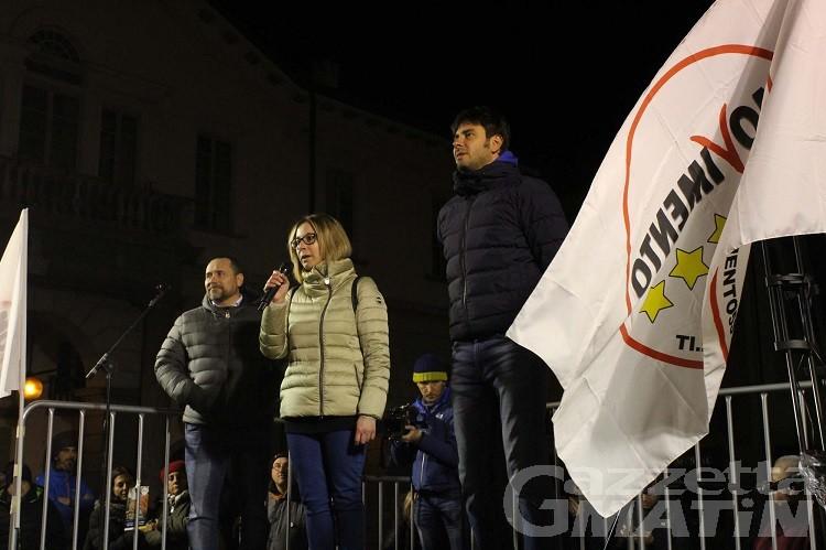 Alessandro Di Battista (M5S), show ad Aosta davanti a 350 persone