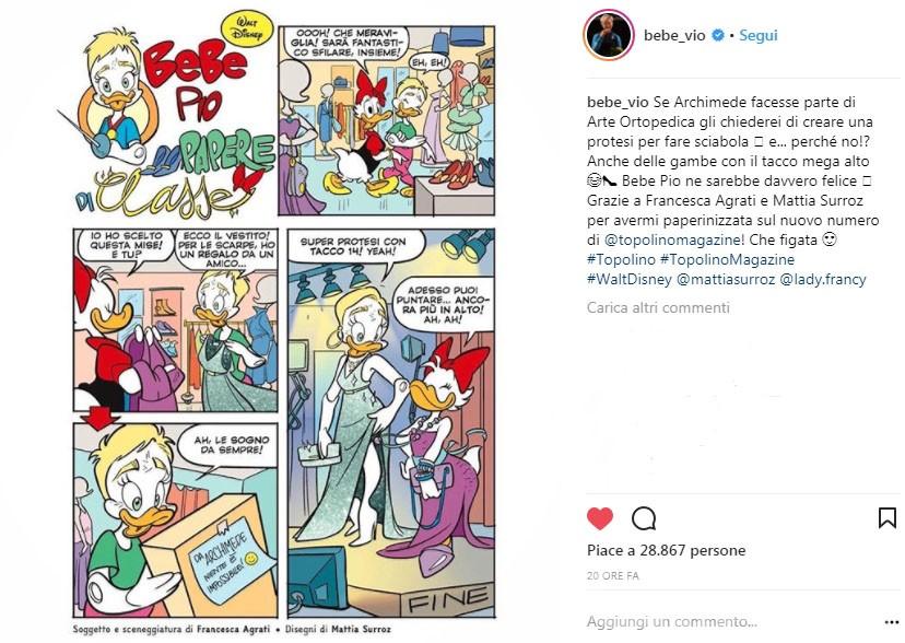 Fumetti, Mattia Surroz firma il Topolino con Bebe Vio