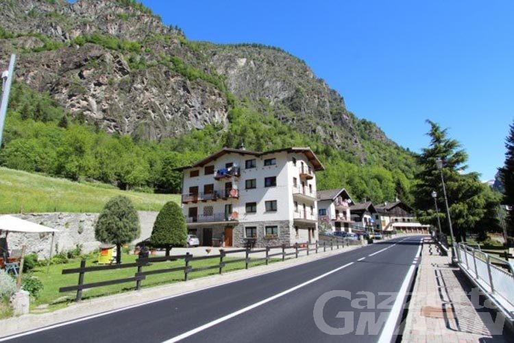 Antey, riaperta la strada regionale della Valtournenche