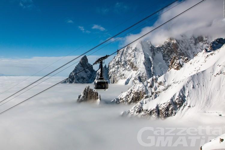 Skyway, cresce l'ascesa ai piedi del Monte Bianco
