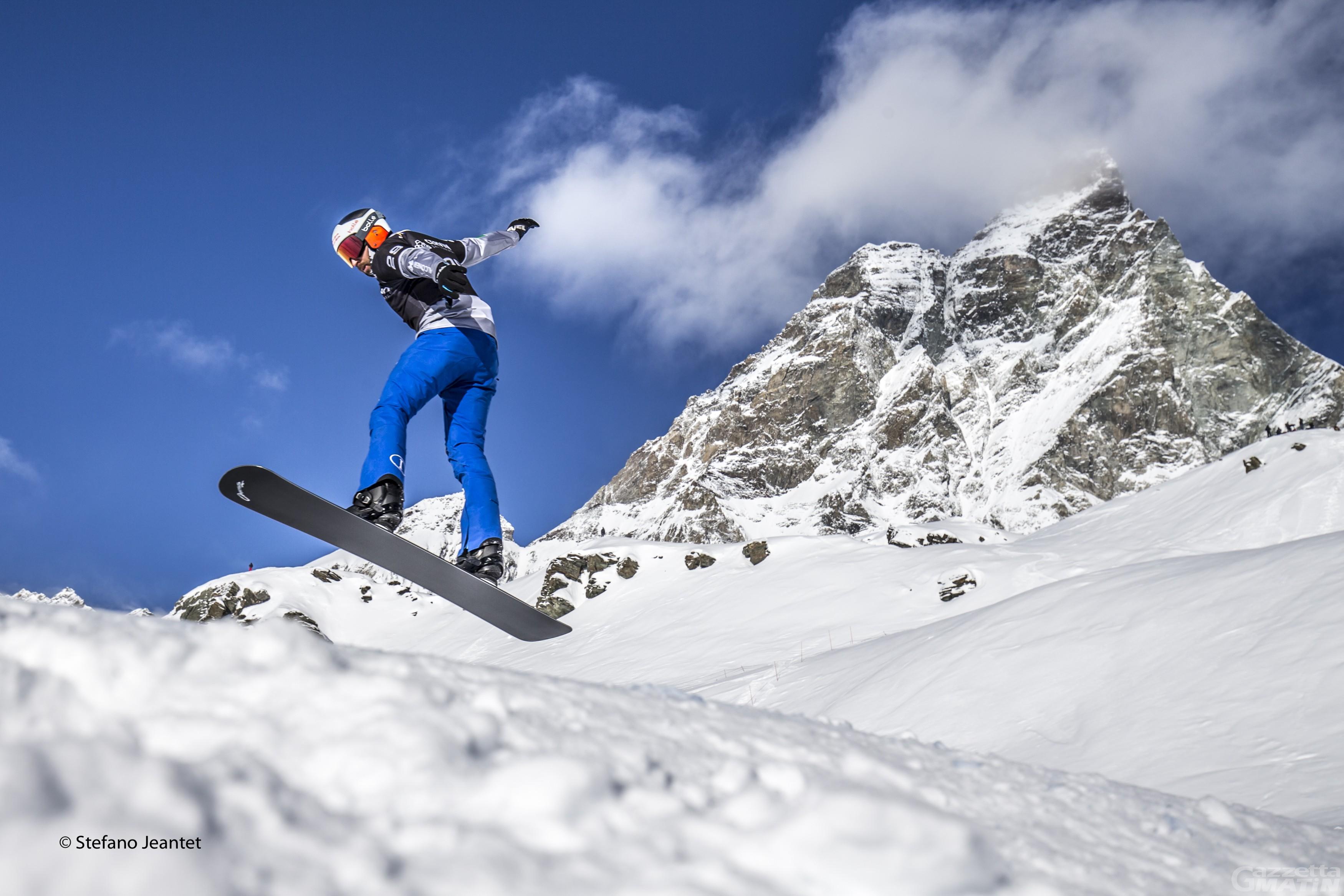 Snowboardcross, la squadra nazionale italiana si allena a Breuil-Cervinia