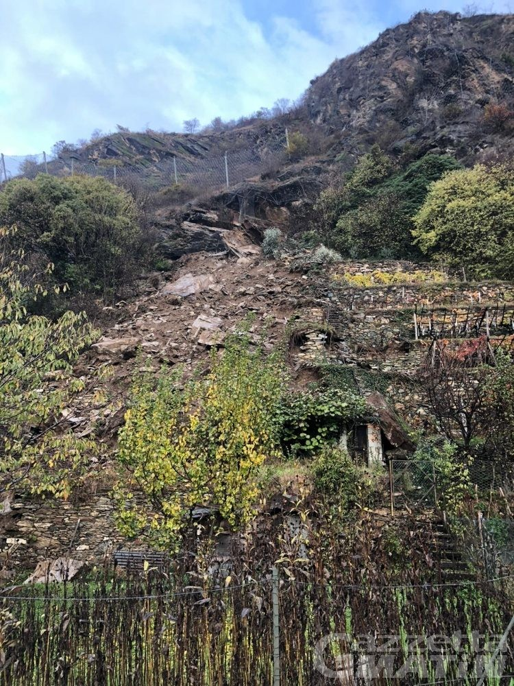 Verrès: frana a Torille, evacuate cinque famiglie