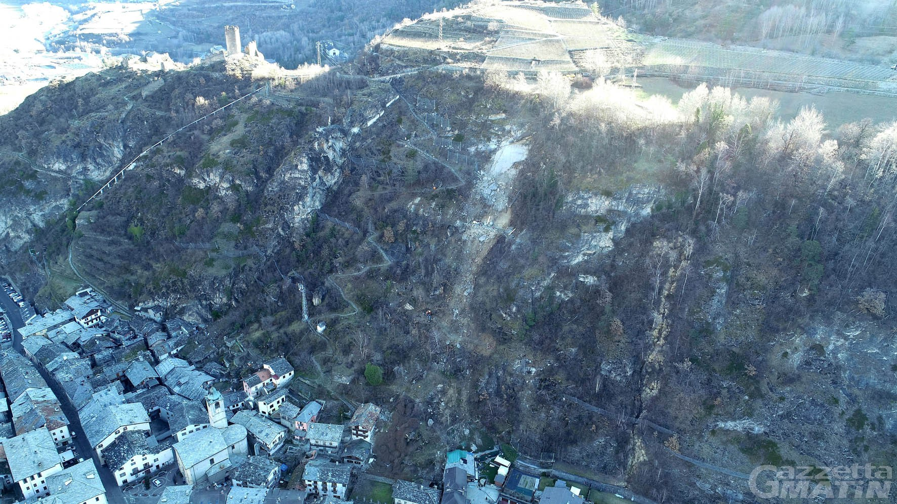 Frana di Villeneuve: la Regione sollecita l'iter per l'«eccezionale calamità»