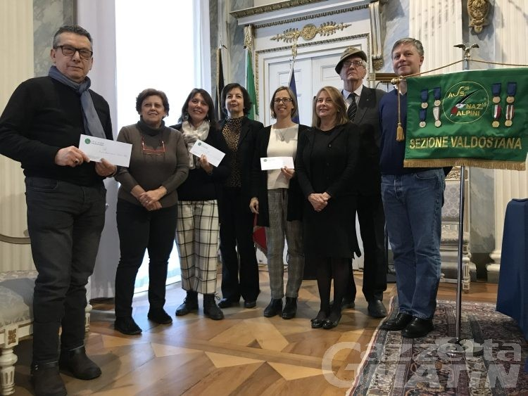 Solidarietà, dagli Alpini 23 mila euro a tre associazioni