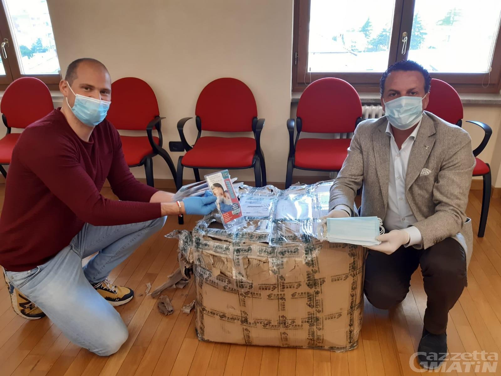 Coronavirus, solidarietà: dalla Cina 2.000 mascherine per Verrès