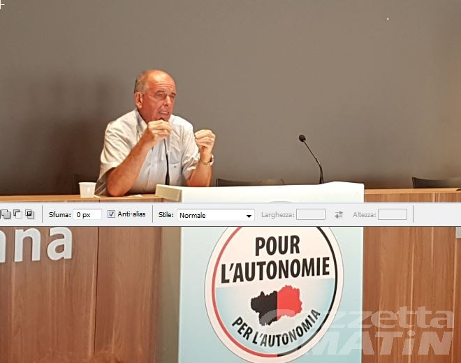 Pour l'Autonomie si presenta, Augusto Rollandin: l'Autonomia è di tutti i valdostani, lo Stato rispetti le regole