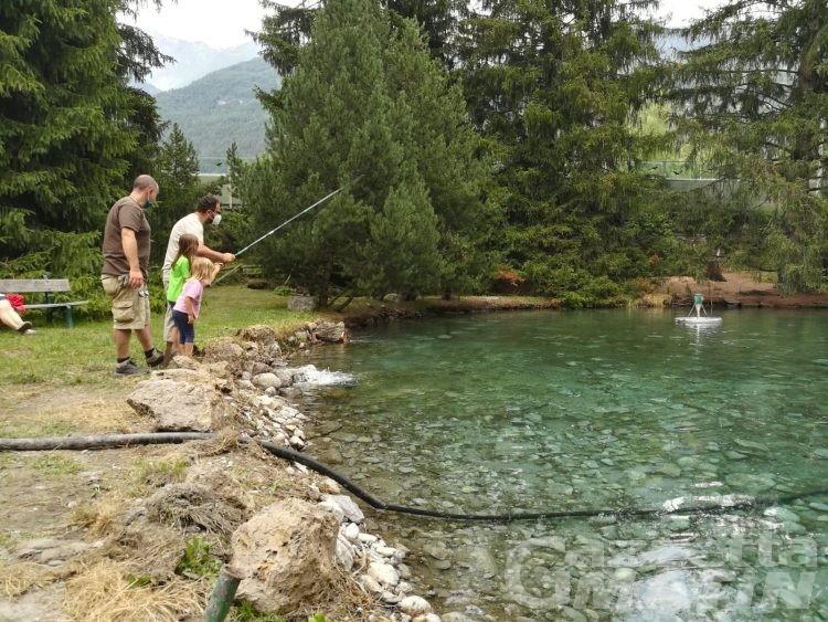 Morgex, al laghetto di pesca sportiva il sogno continua