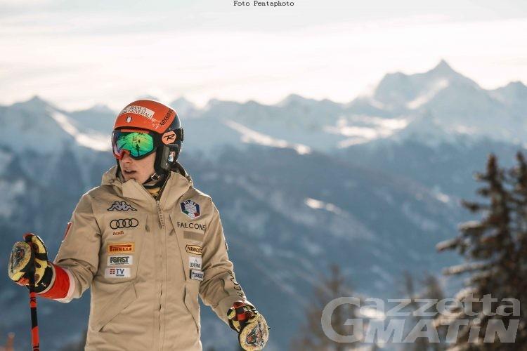 Sci alpino: Federica Brignone si allena con la squadra azzurra maschile