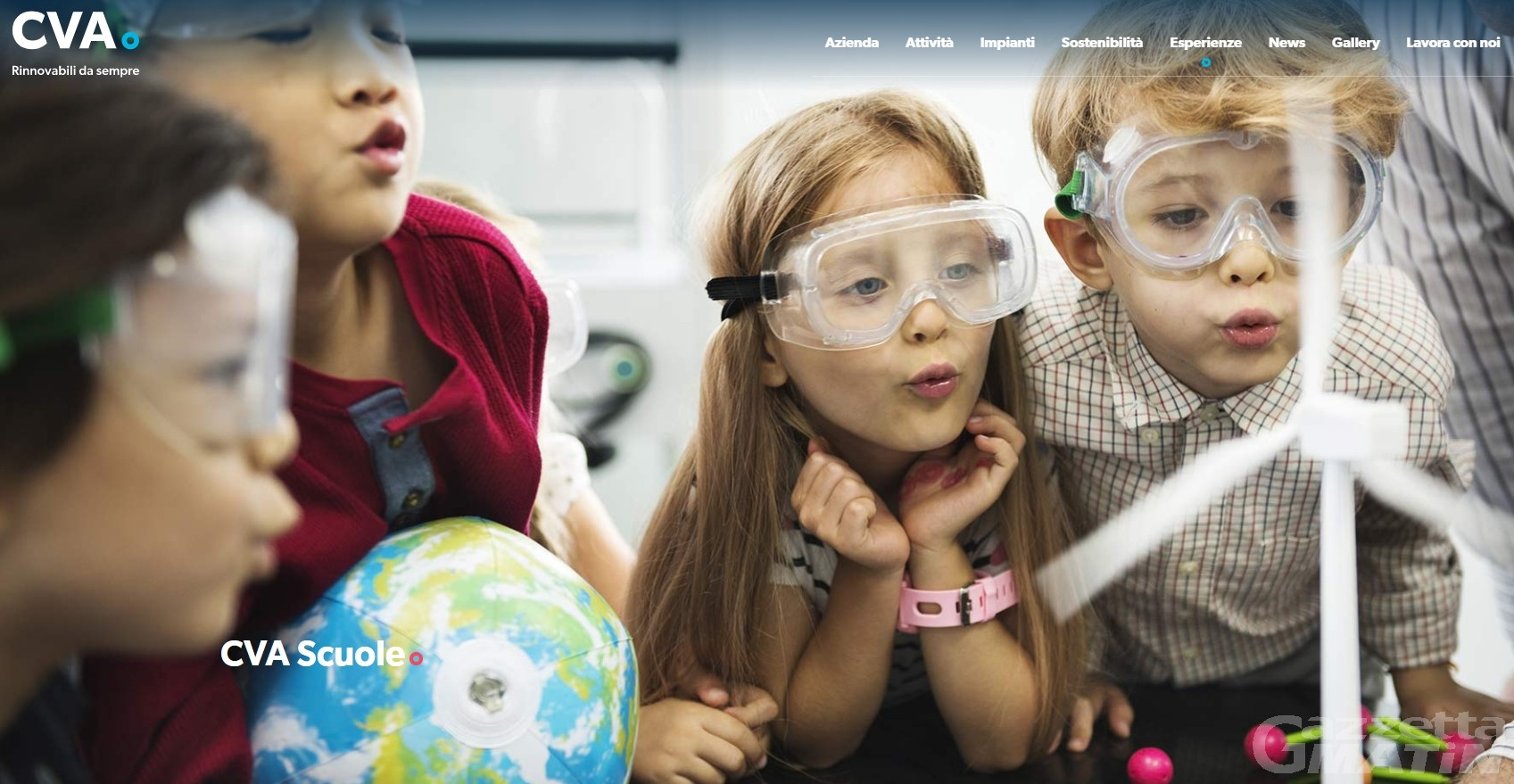 Energie rinnovabili: quattro iniziative di CVA per le nuove generazioni