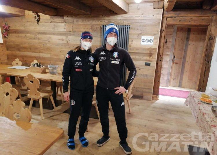 Biathlon: Michela Carrara e Didier Bionaz al lavoro con la nazionale