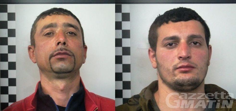 Châtillon, arrestati due romeni: sono accusati di sequestro di persona, percosse e rapina