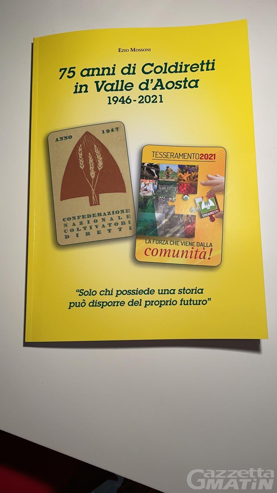 """I """"75 anni di Coldiretti in Valle d'Aosta"""" raccontati in un libro da Ezio Mossoni"""