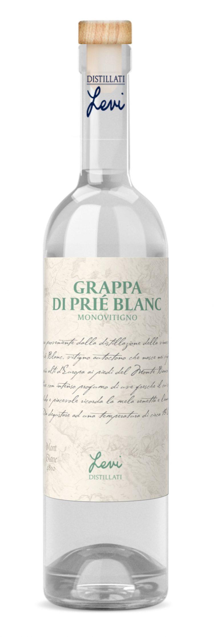 La Grappa Monovitigno di Prié Blanc di Levi premiata al World Grappa Award 2021