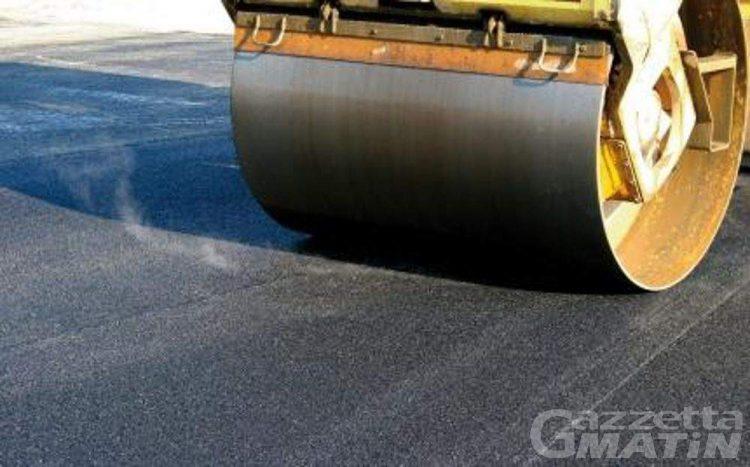 Charvensod, giovedì 10 chiusura parziale strada per Gressan per rifacimento asfalto