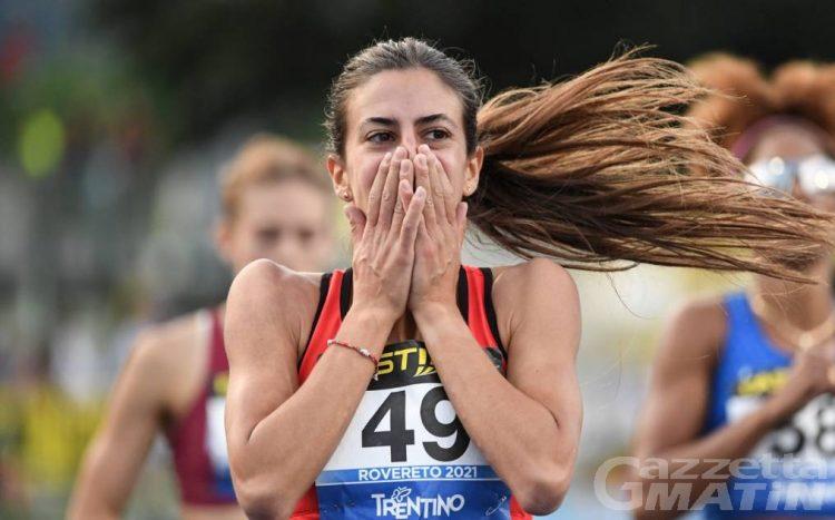 Atletica: meravigliosa Eleonora Marchiando, oro tricolore e minimo per le Olimpiadi